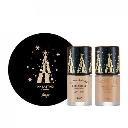 INK LASTING CUSHION SPECIAL SET V203 NATURAL BEIGE (CHRISTMAS 2019)