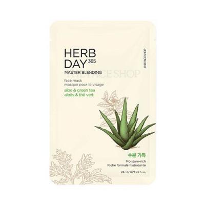 HERB DAY 365 MASTER BLENDING FACE MASK - ALOE & GREEN TEA