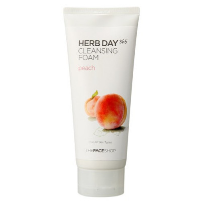 HERB DAY 365 FOAMING CLEANSER PEACH